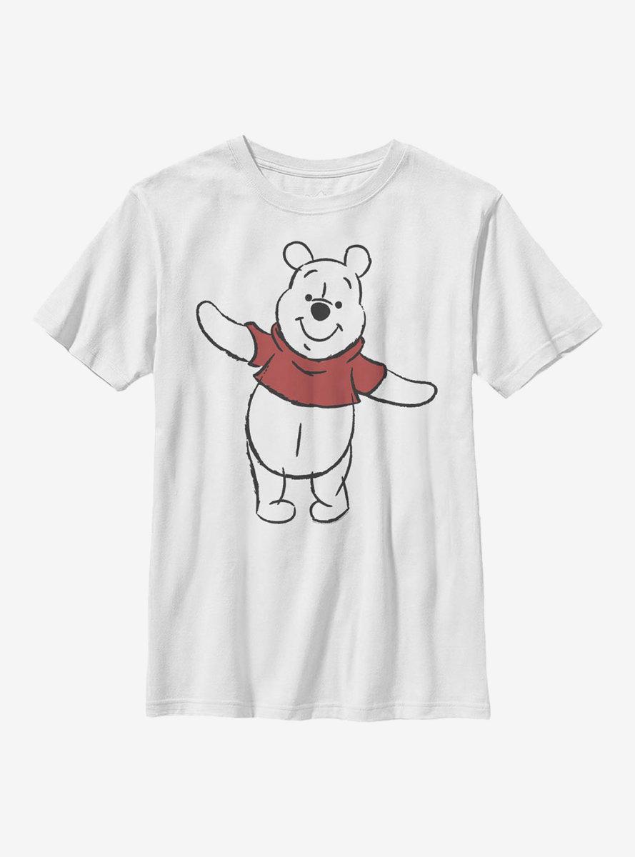 Disney Winnie The Pooh Basic Sketch Pooh Youth T-Shirt