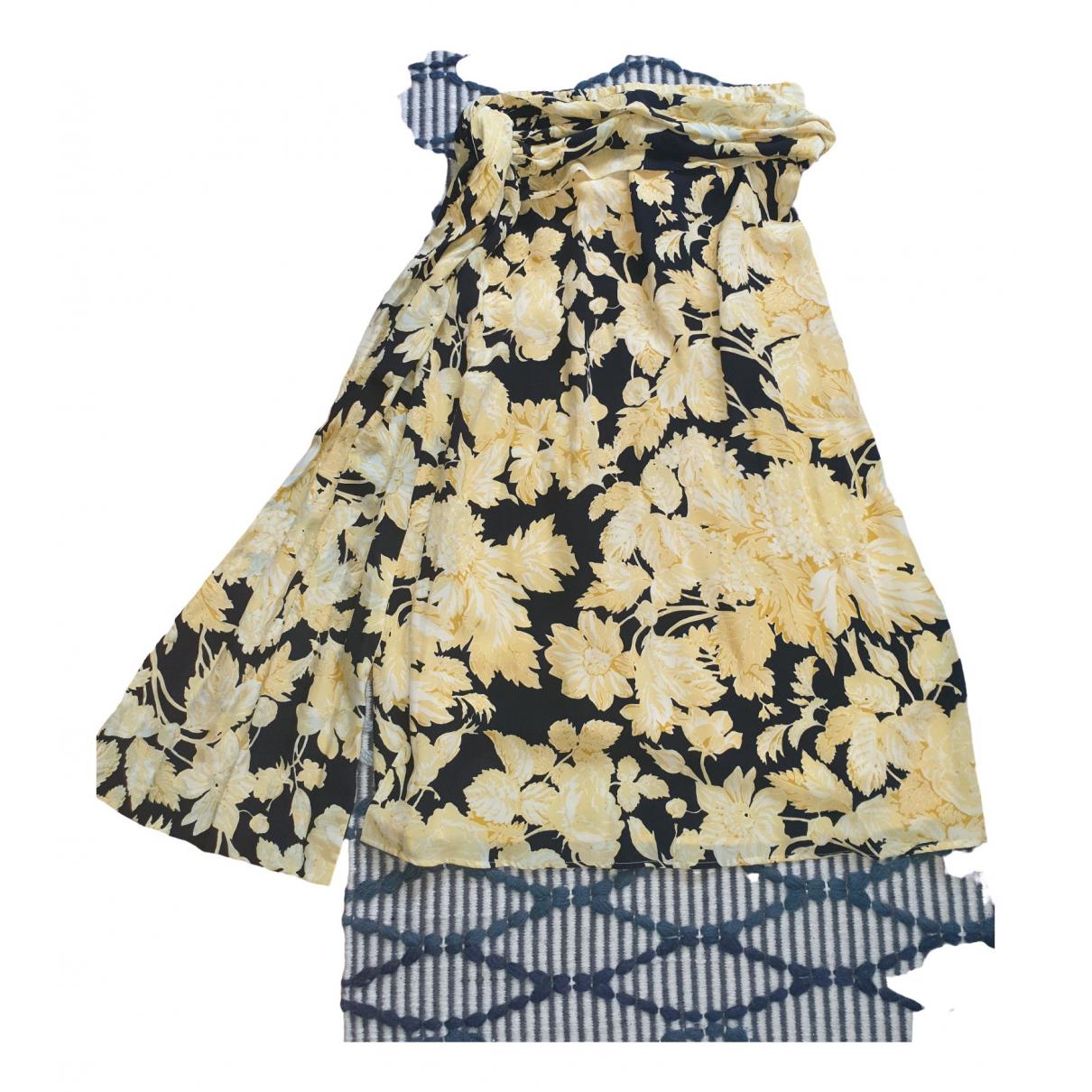 Falda midi de Seda Stine Goya