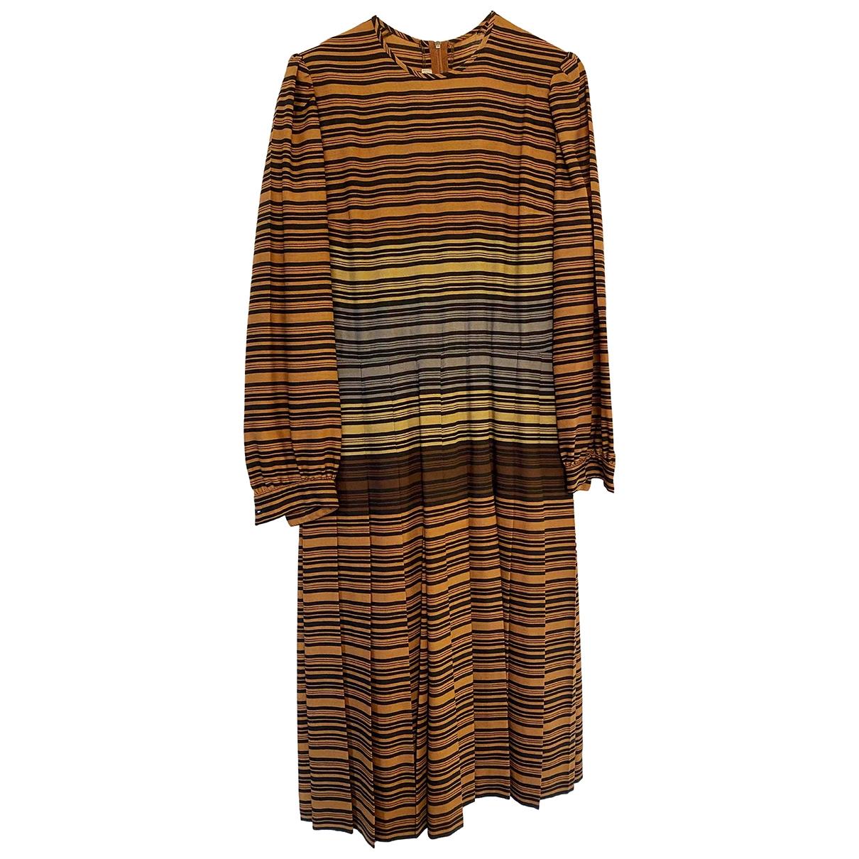 Lanvin \N Kleid in  Braun Wolle