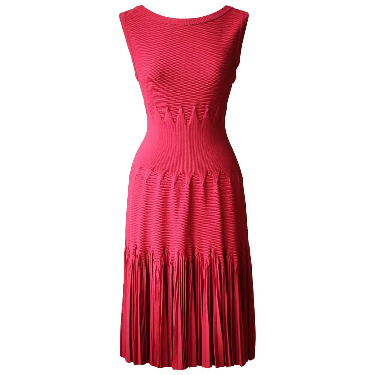 Alaia - Robe   pour femme en laine - rouge