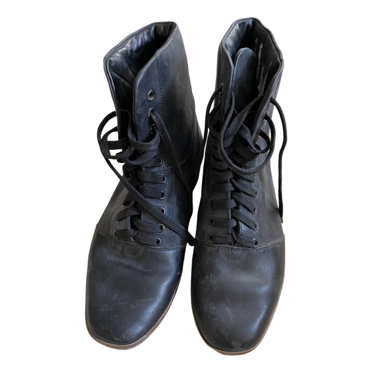 Lemaire \N Stiefel in  Schwarz Leder