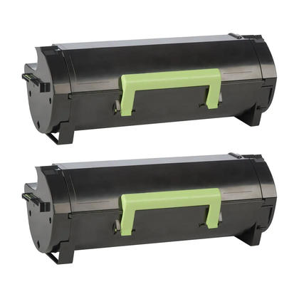 Compatible Lexmark 501X 50F1X00 Black Toner Cartridge Extra High Yield - Economical Box - 2/Pack