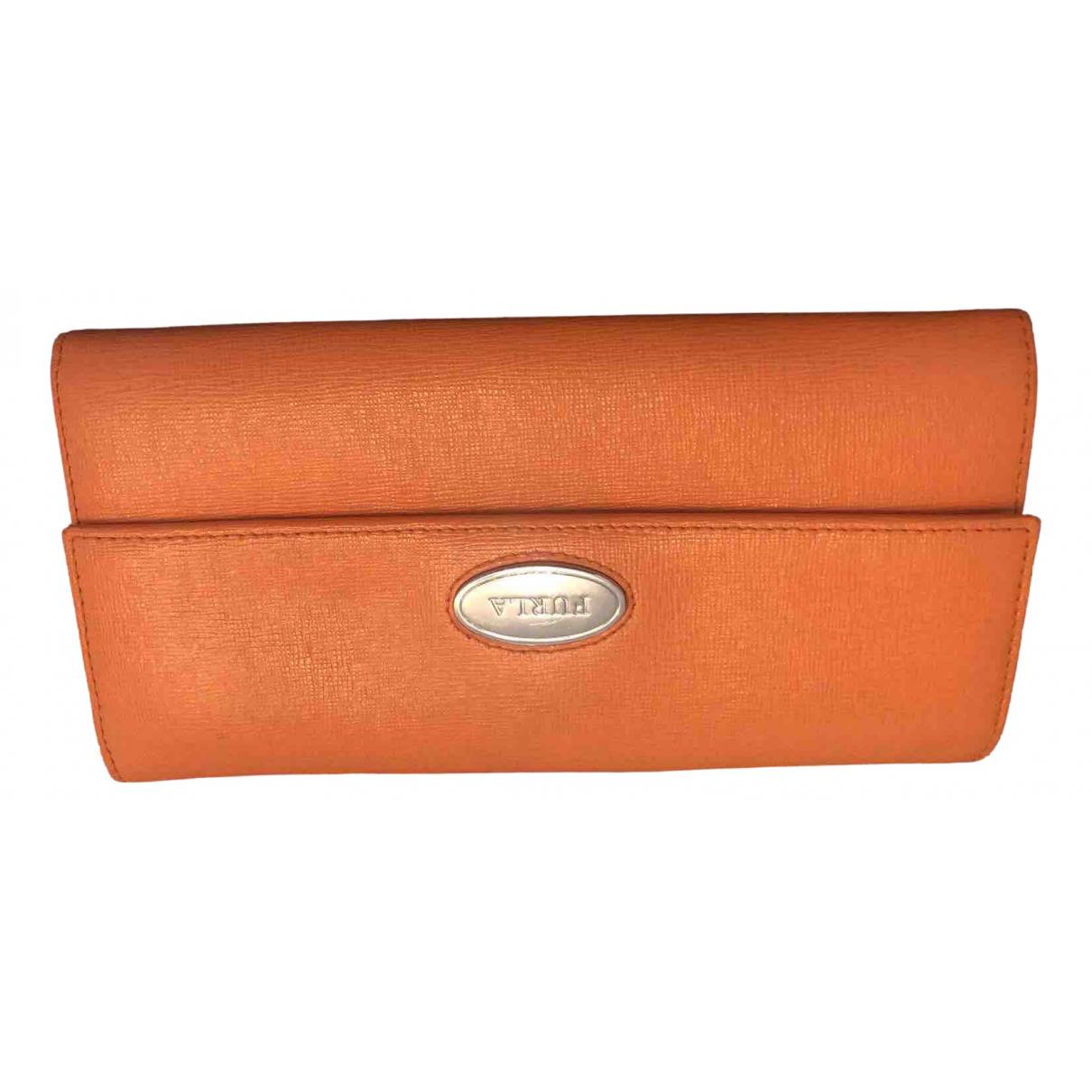 Furla \N Portemonnaie in  Orange Leder