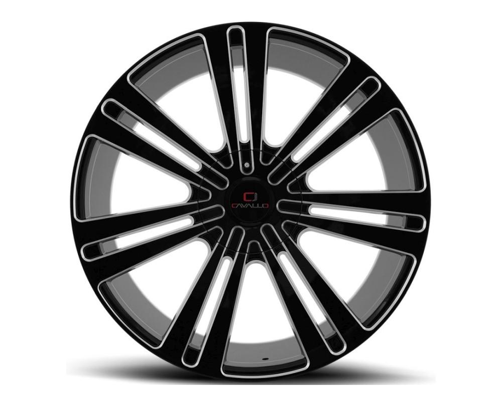 Cavallo CLV-16 Wheel 22x8.5 5x112 5x114.3 38mm Gloss Black Milled