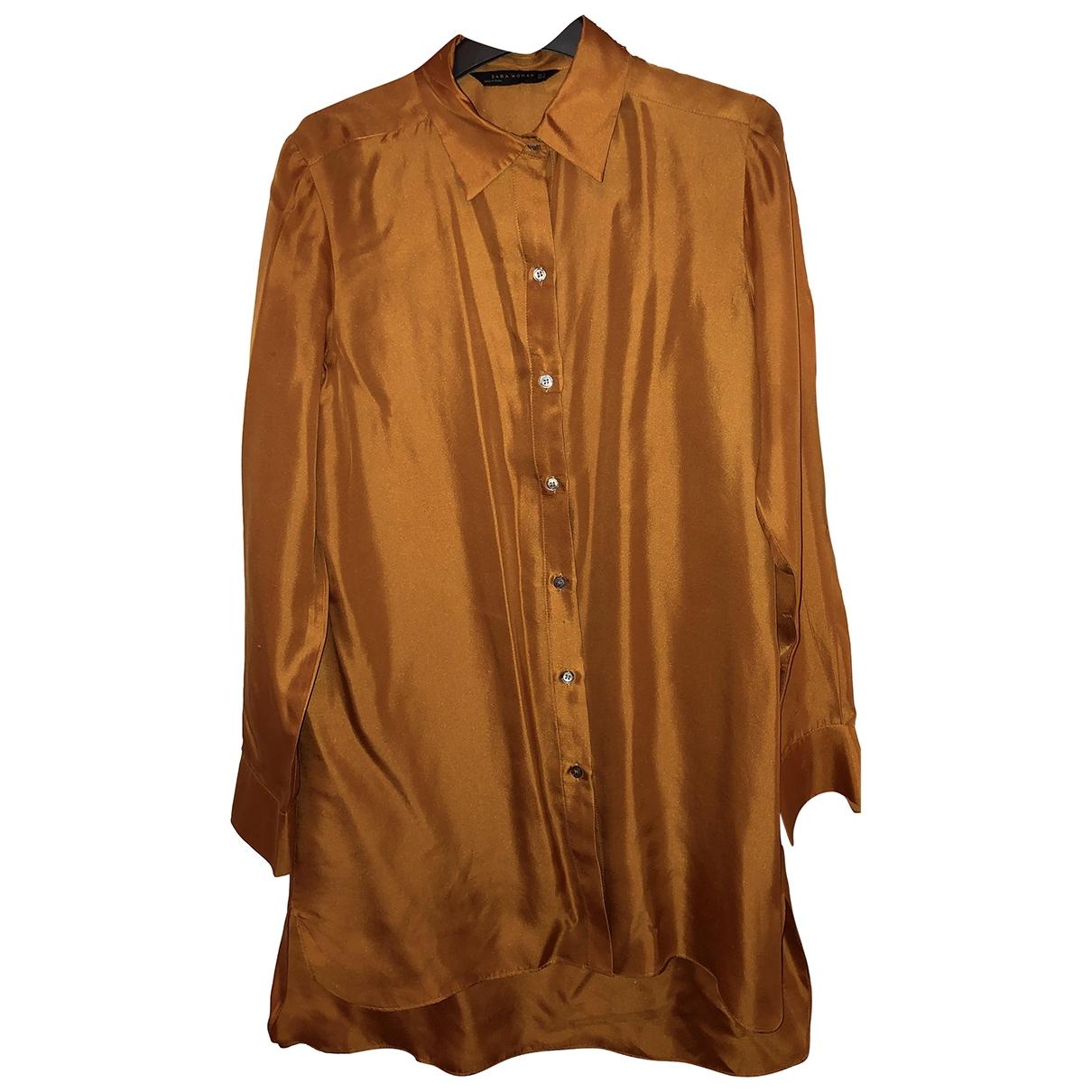 Zara \N Top in  Orange Synthetik