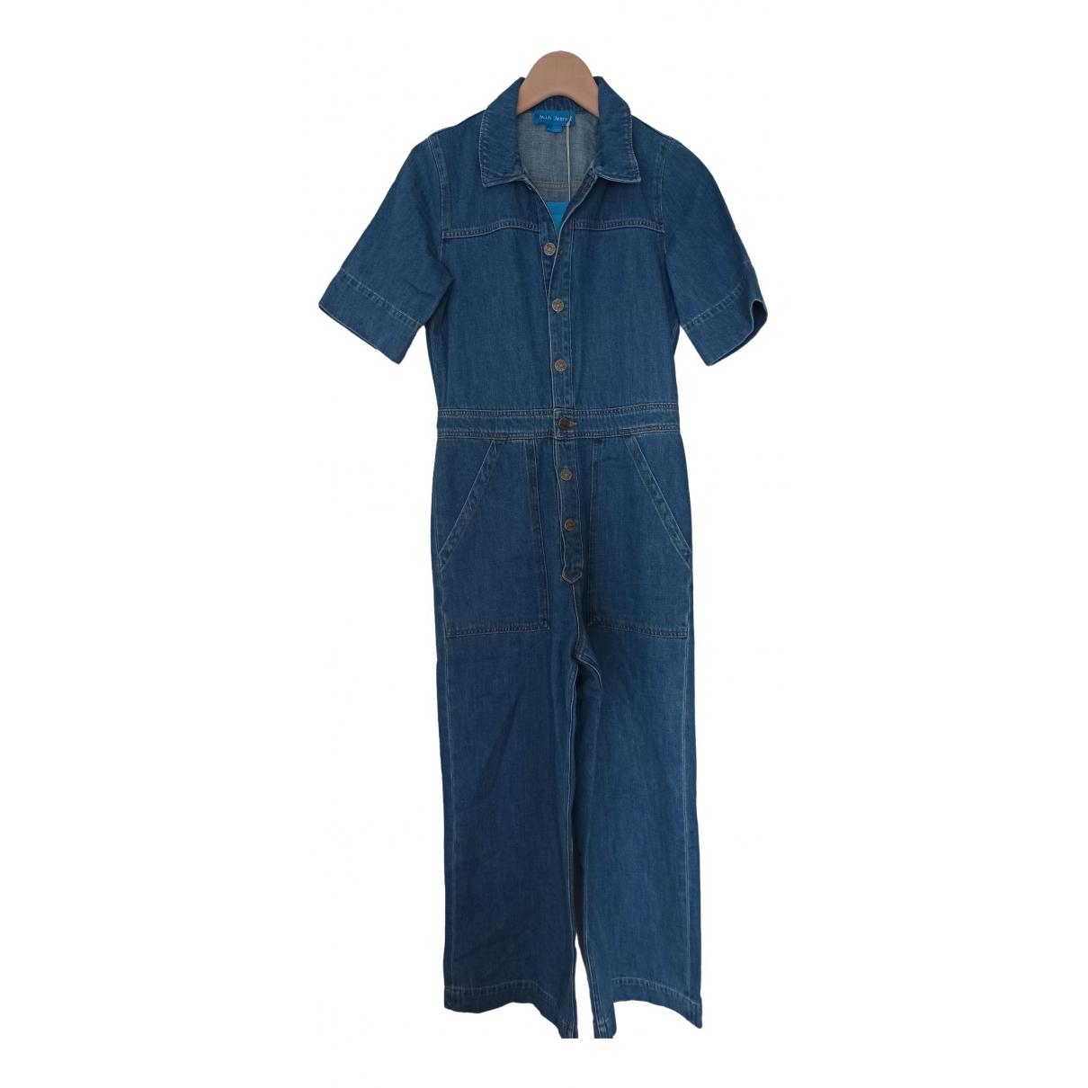 Mih Jean - Combinaison   pour femme en coton - bleu