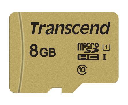 Transcend 8 GB MicroSDHC Card Class 10, UHS-I U1, UHS-I U3, V30