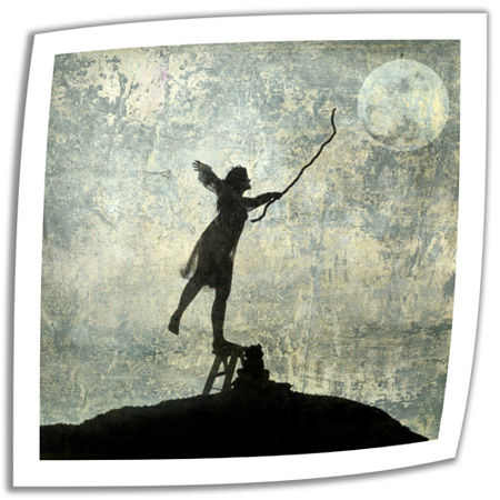 Brushstone Reach For The Moon Canvas Wall Art, One Size , White
