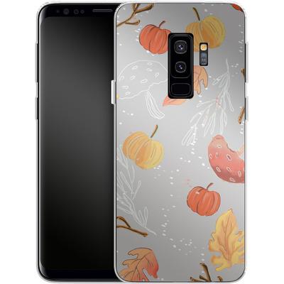 Samsung Galaxy S9 Plus Silikon Handyhuelle - Fall Woodland Grey von Mukta Lata Barua