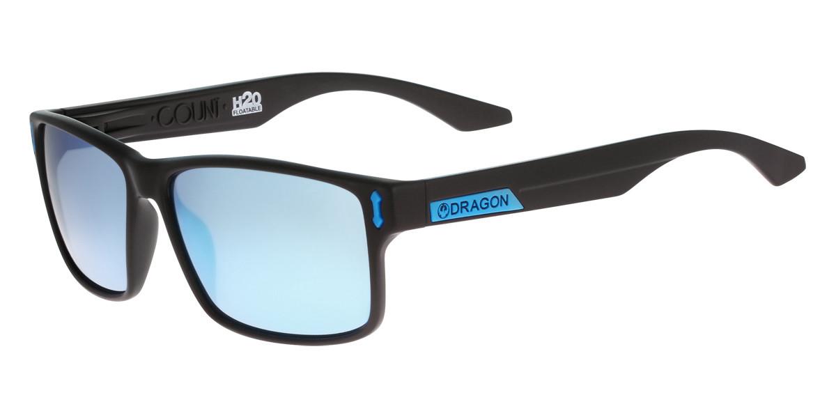 Dragon Alliance DR COUNT LL H2O Polarized 455 Men's Sunglasses Black Size 58
