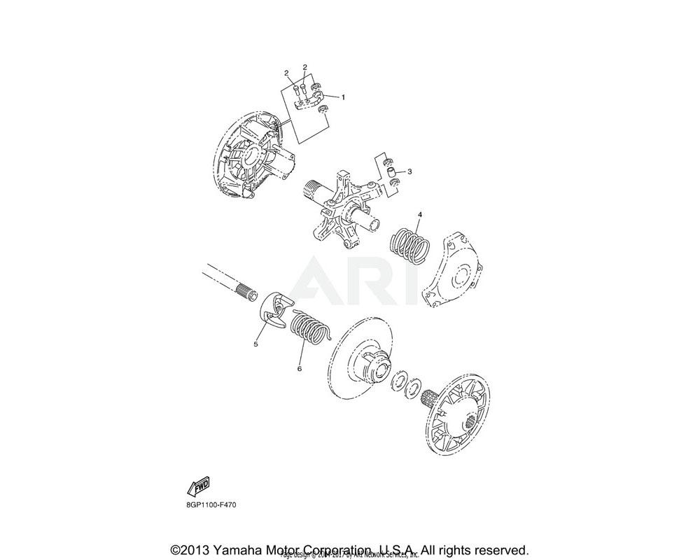 Yamaha OEM 90501-550J8-00 SPRING, COMPRESSION | UR (WH-P-WH)