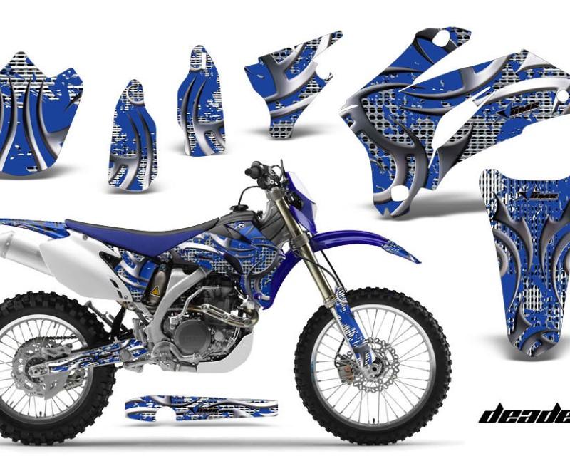 AMR Racing Dirt Bike Graphics Kit Decal Wrap For Yamaha WR250F 2007-2014 WR450F 2007-2011áDEADEN BLUE