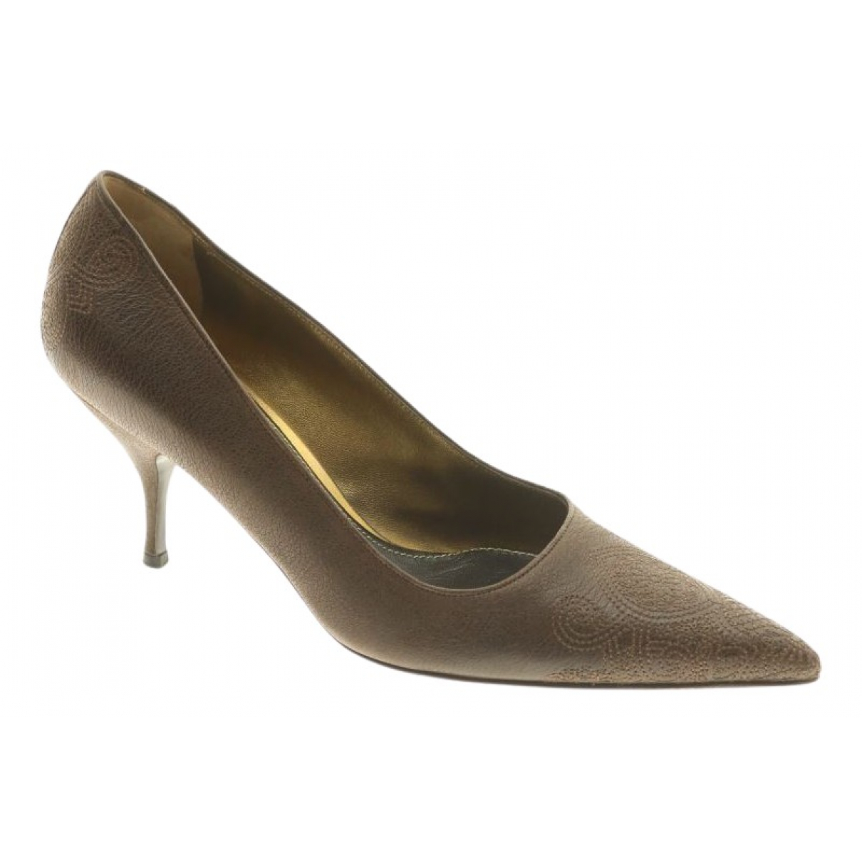 Prada \N Brown Leather Heels for Women 40 EU