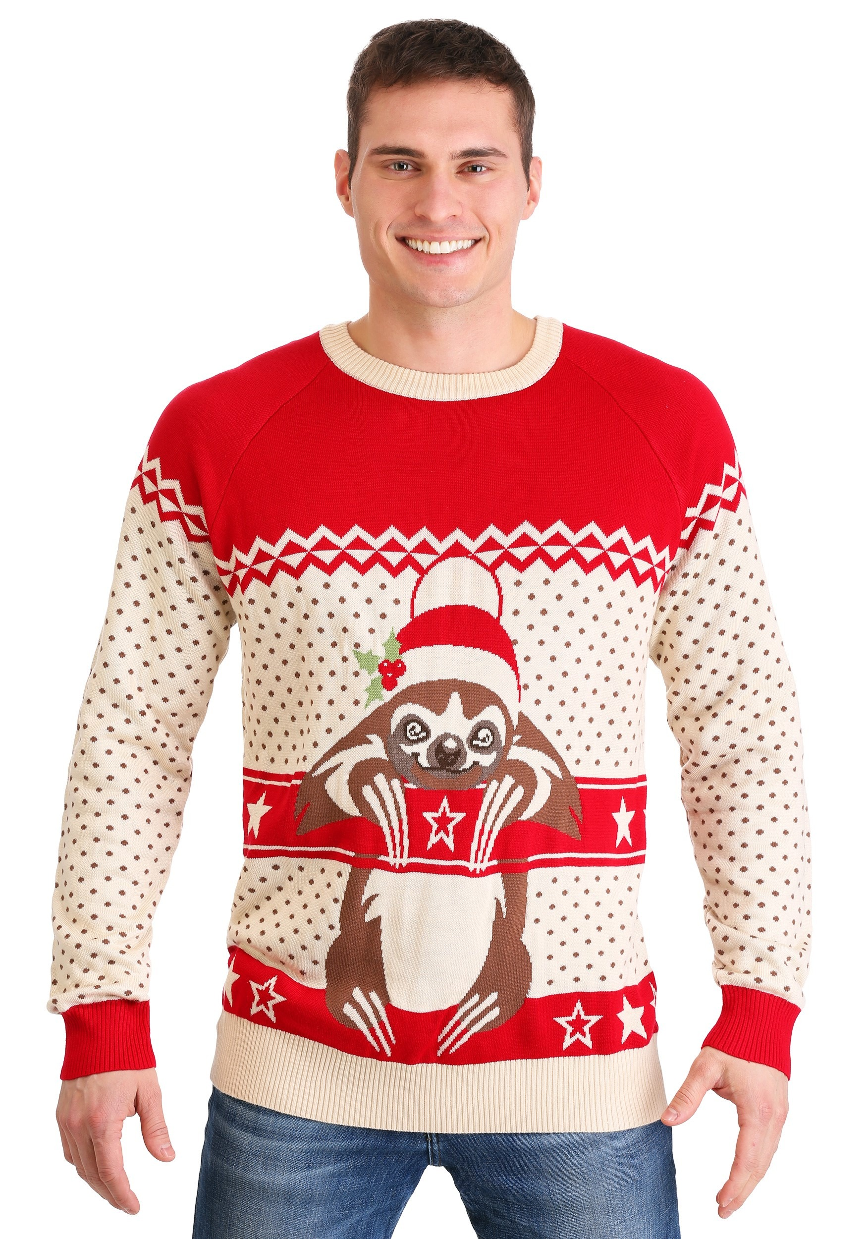 Sloth Ugly Christmas Sweater for Adults