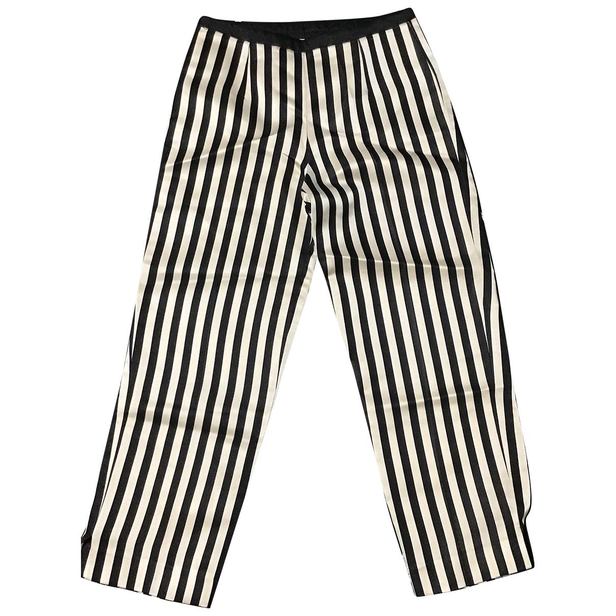 Jil Sander \N Multicolour Silk Trousers for Women 36 FR