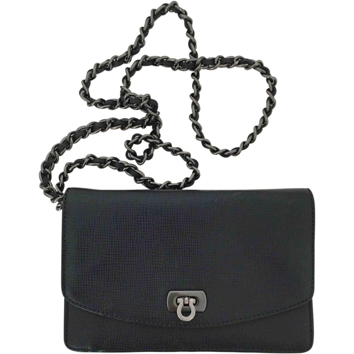 Uterque \N Navy Leather handbag for Women \N