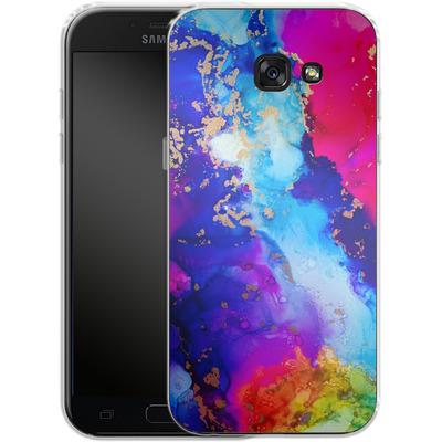 Samsung Galaxy A5 (2017) Silikon Handyhuelle - Cosmic Swirl II von Stella Lightheart
