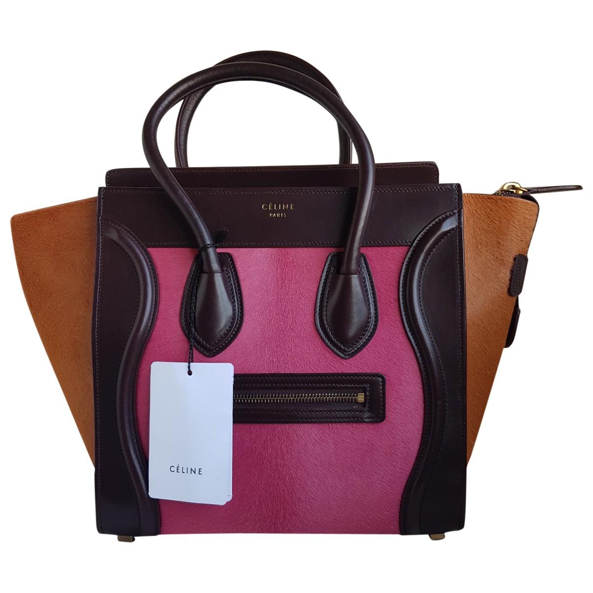 Celine Luggage Handtasche in  Rosa Leder
