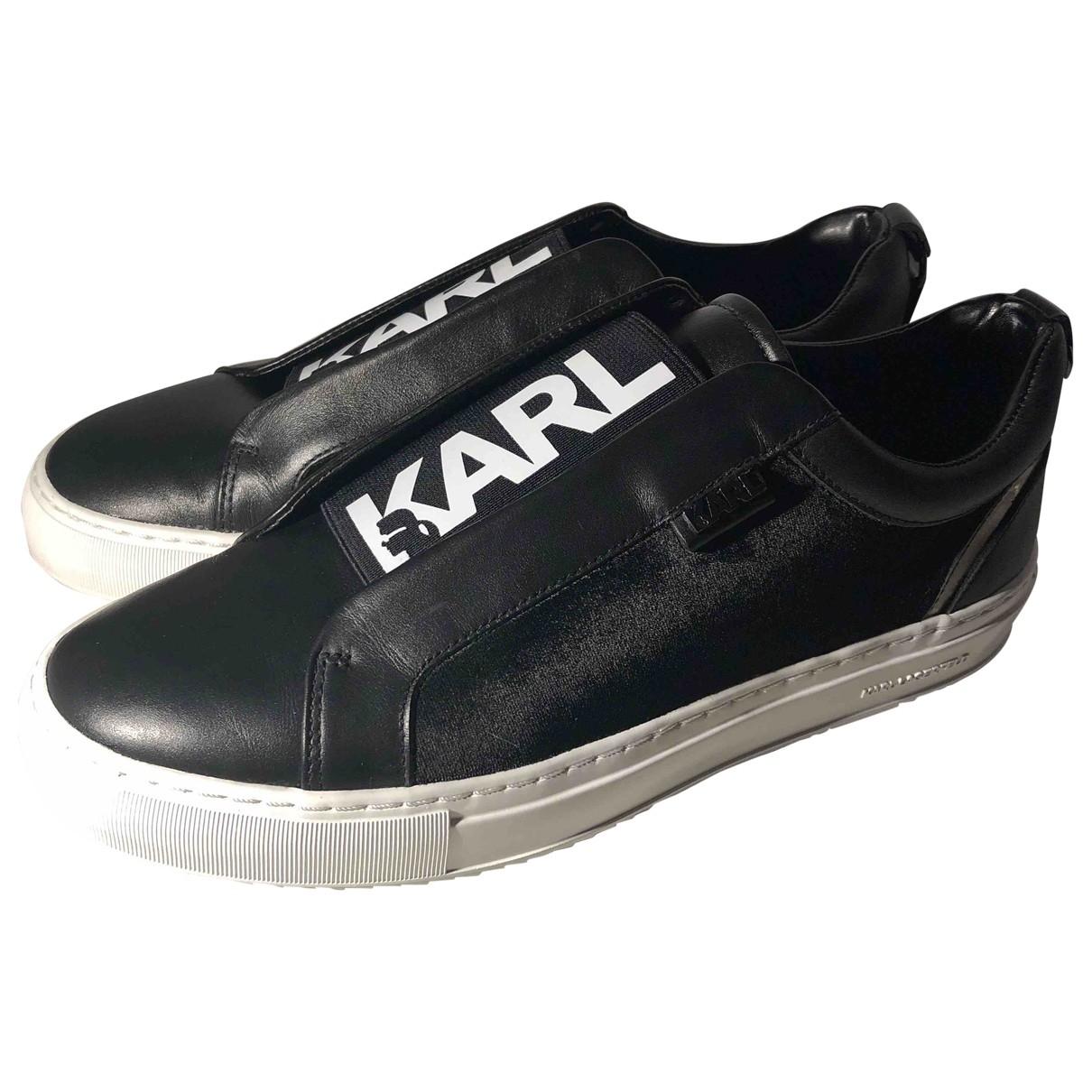 Karl - Baskets   pour femme en velours - noir