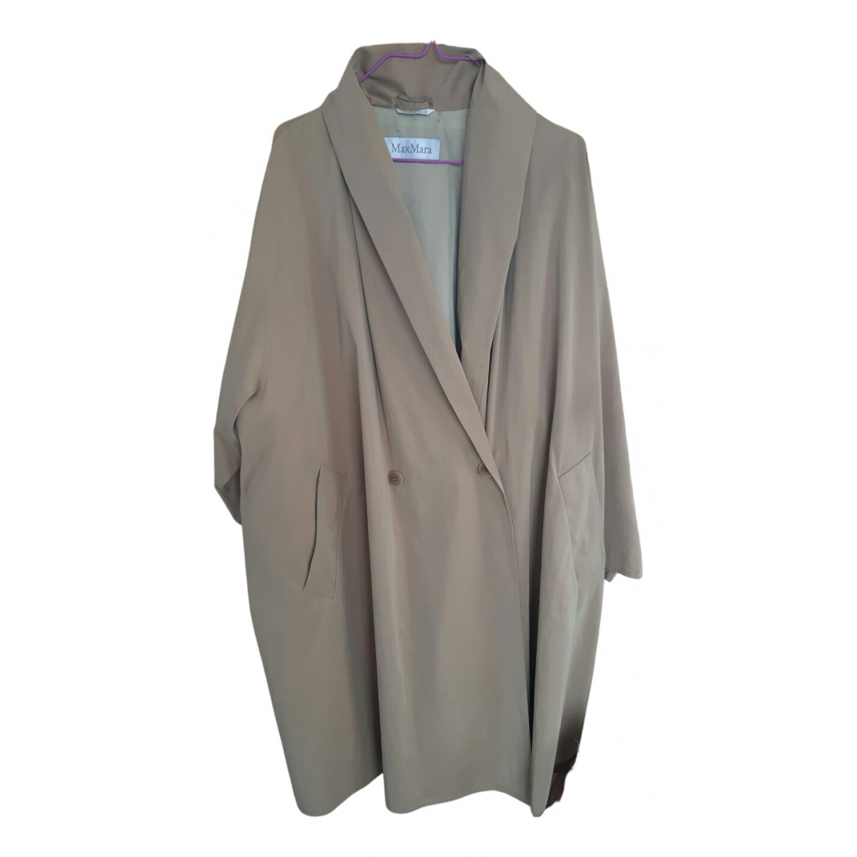 Max Mara \N Trench in  Beige Polyester