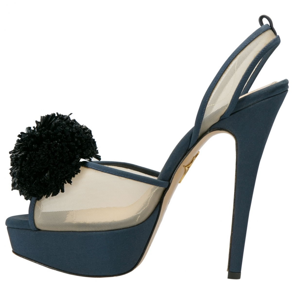 Charlotte Olympia \N Blue Cloth Sandals for Women 37 EU