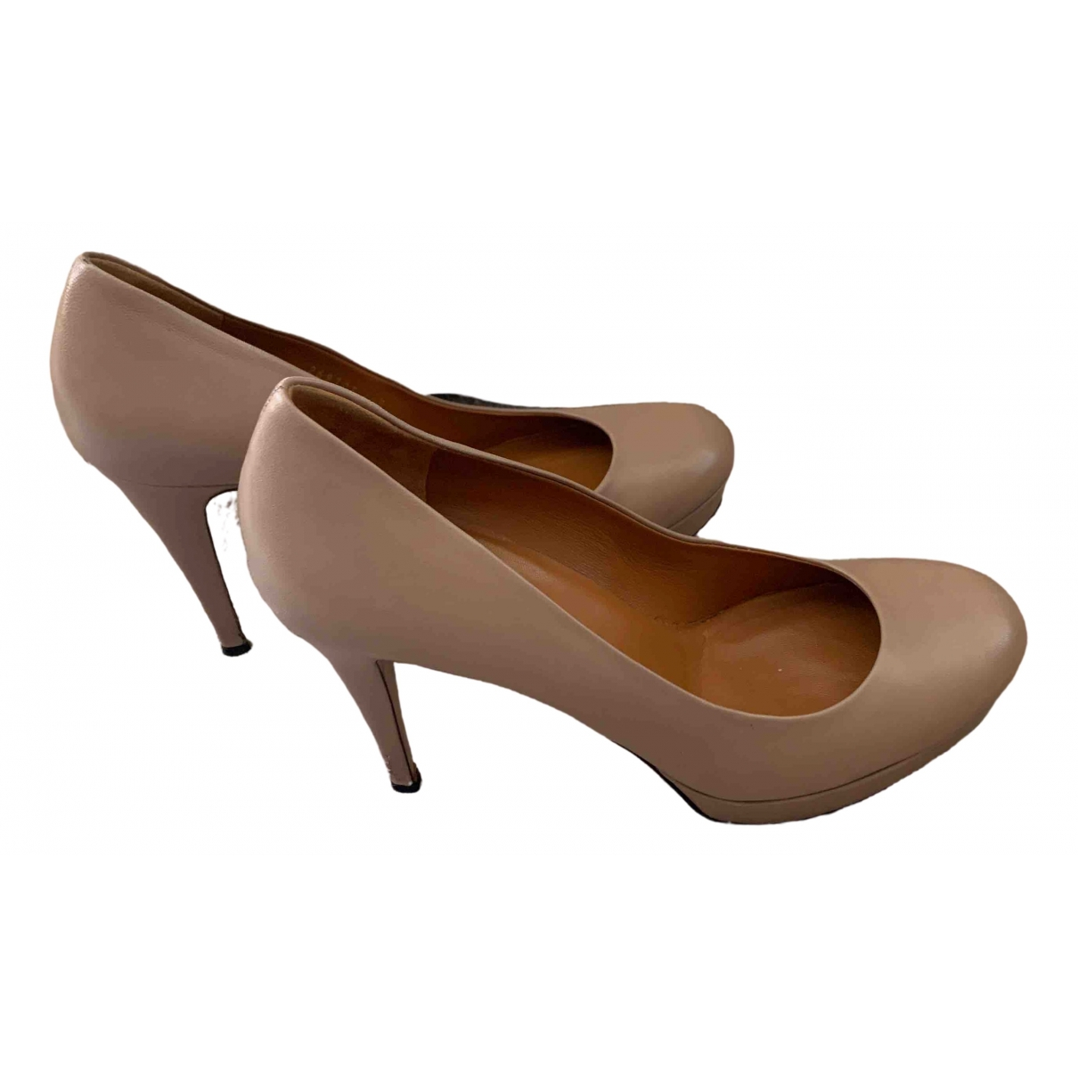 Gucci \N Beige Leather Heels for Women 40.5 EU