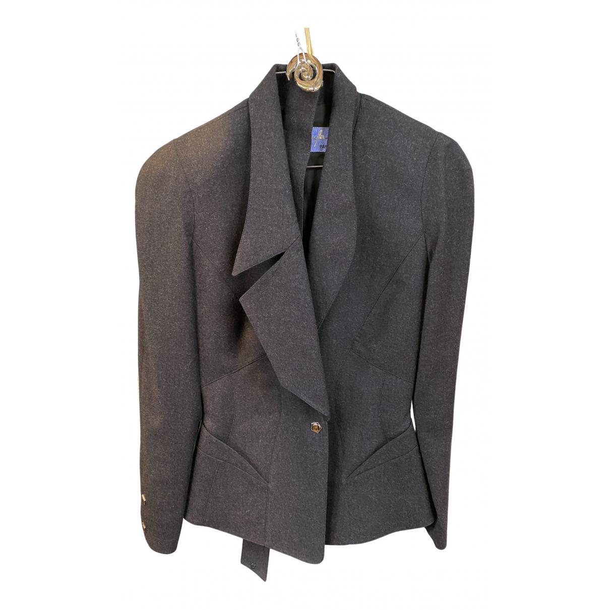 Thierry Mugler N Grey Wool jacket for Women 36 FR