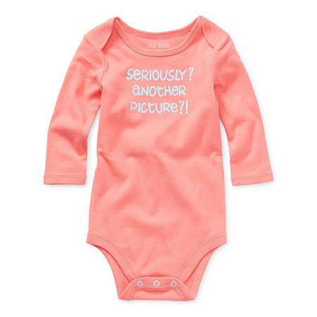 Okie Dokie Baby Girls Bodysuit, 9 Months , Pink