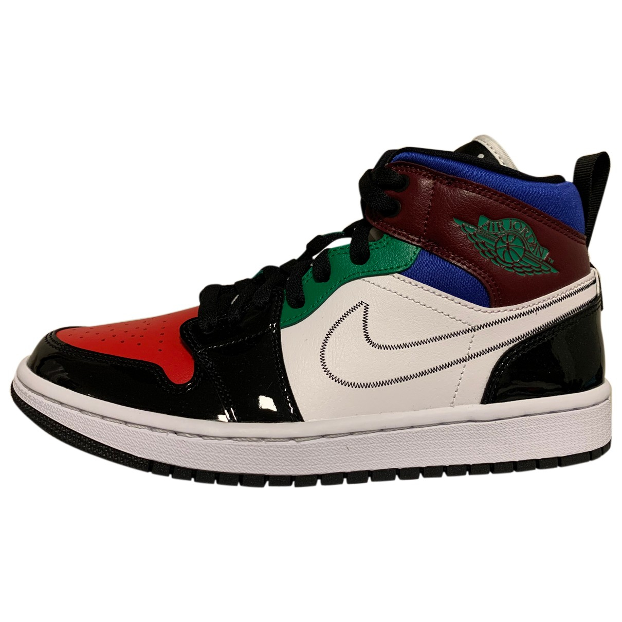 Jordan - Baskets Air Jordan 1  pour femme en cuir - multicolore