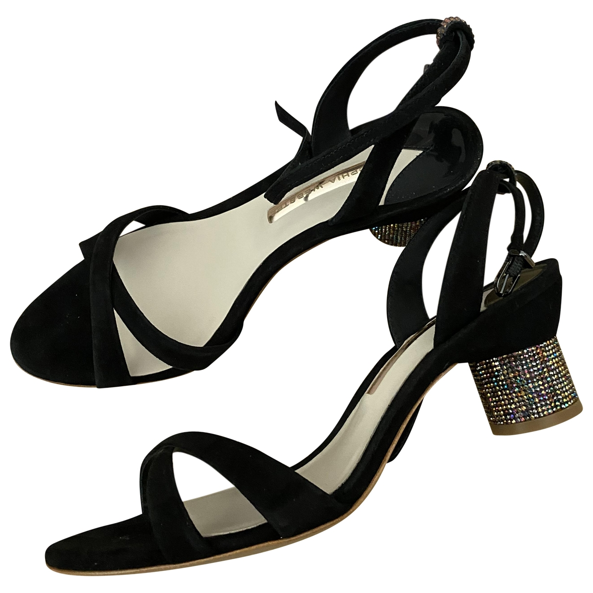 Sophia Webster \N Sandalen in  Schwarz Veloursleder