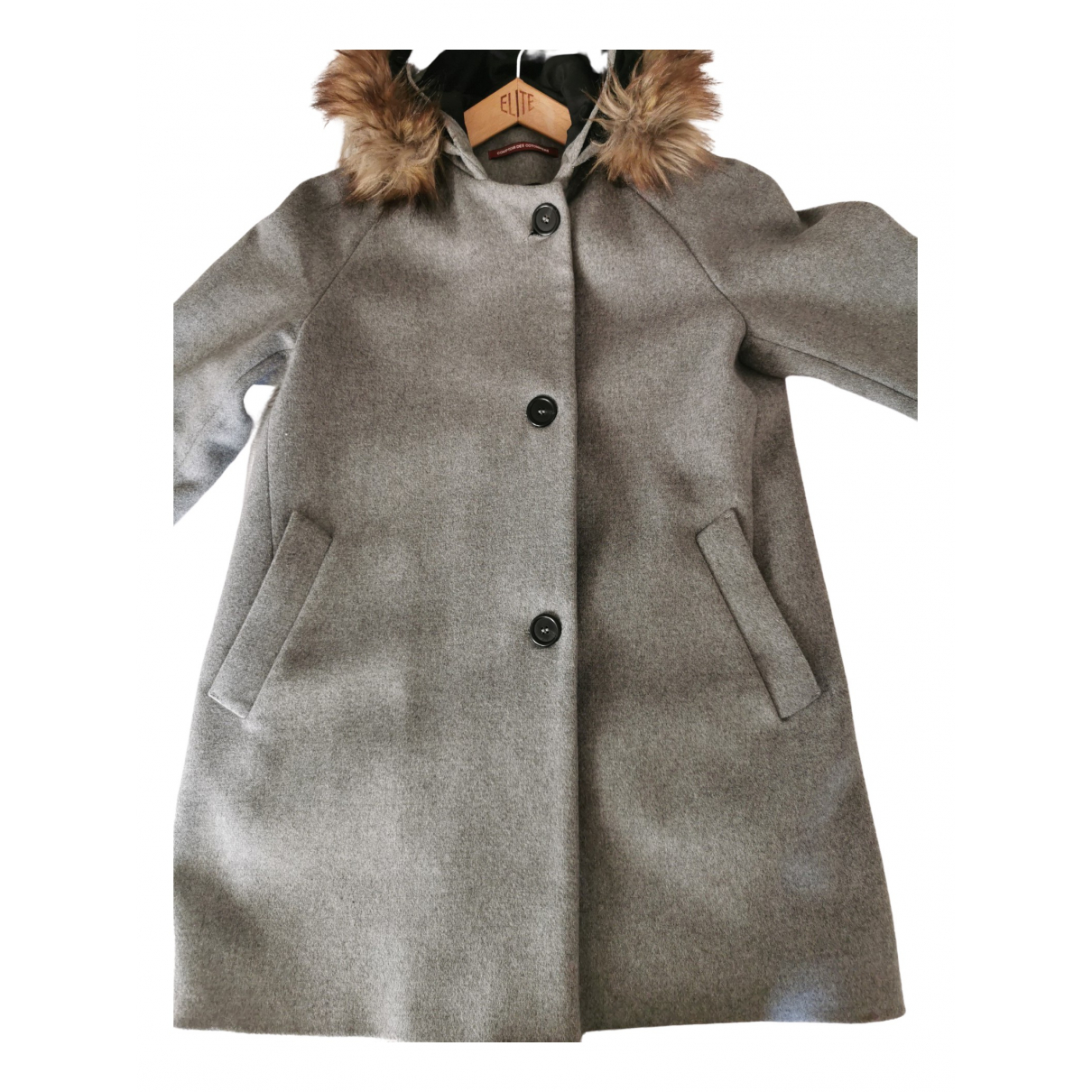 Comptoir Des Cotonniers \N Grey Wool coat for Women 38 FR
