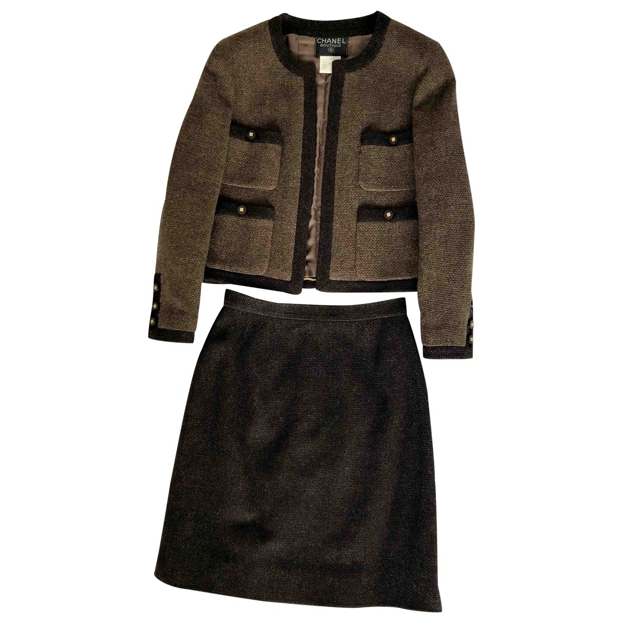 Chanel \N Brown Wool jacket for Women 42 FR
