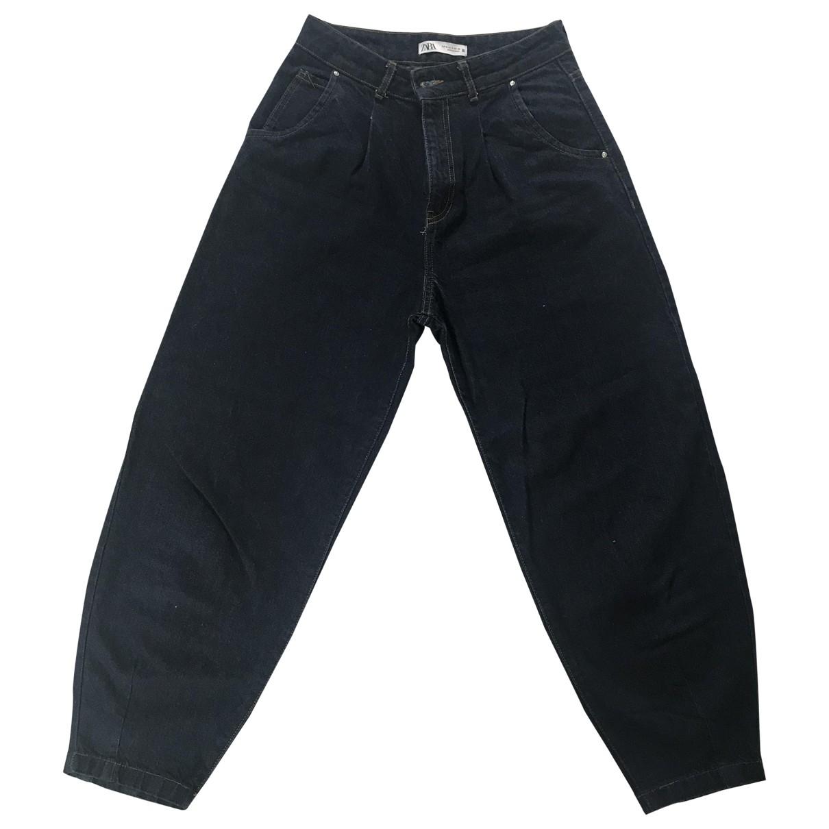 Zara \N Blue Cotton - elasthane Jeans for Women 38 FR