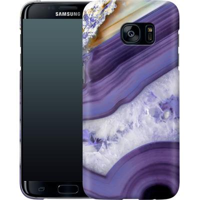 Samsung Galaxy S7 Edge Smartphone Huelle - Purple Agate von Emanuela Carratoni