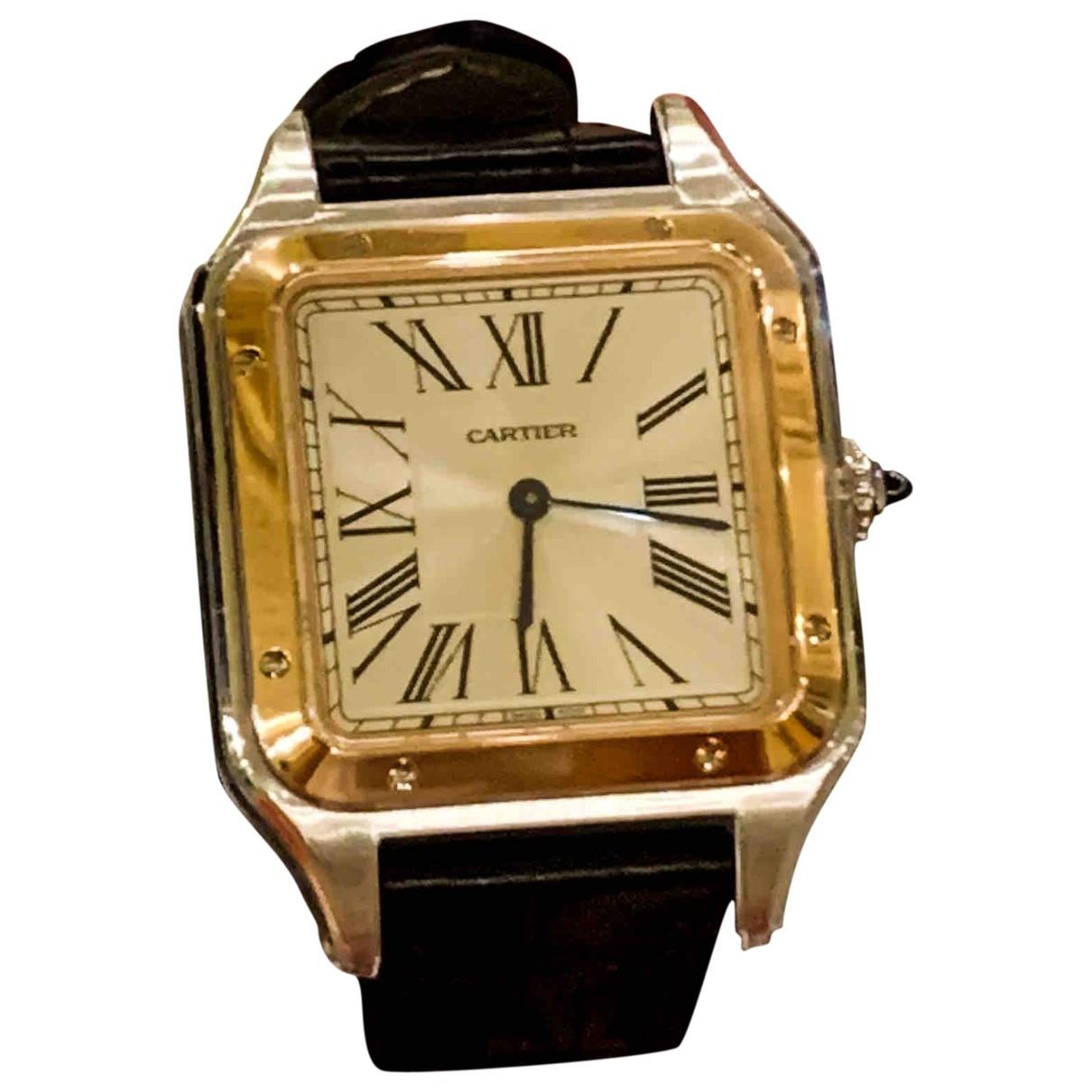 Cartier - Montre Santos Dumont  pour femme en or et acier