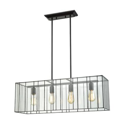 72196/4 Lucian 4-Light Chandelier in Oil Rubbed Bronze with Clear