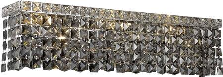 V2033W18C-SS/SS 2033 Maxime Collection Wall Sconce L:18In W:4.5In H:6.25In Lt:3 Chrome Finish (Swarovski   Elements