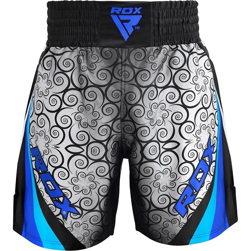RDX BSS Short de Boxe 2X Grande  Bleu Polyester