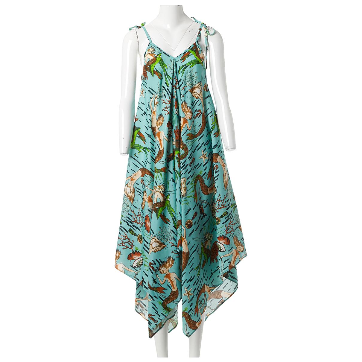 Loewe \N Kleid in  Blau Viskose