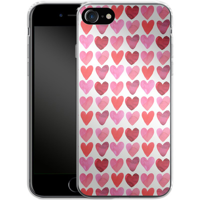 Apple iPhone 7 Silikon Handyhuelle - Heart Watercolour von Amy Sia