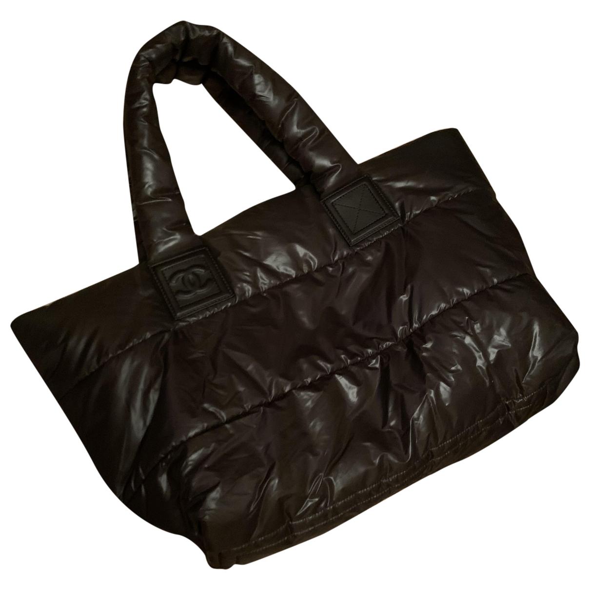 Chanel Coco Cocoon Handtasche in  Braun Leinen