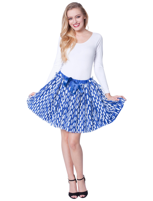 Petticoat mit blauen Stoffstuecken