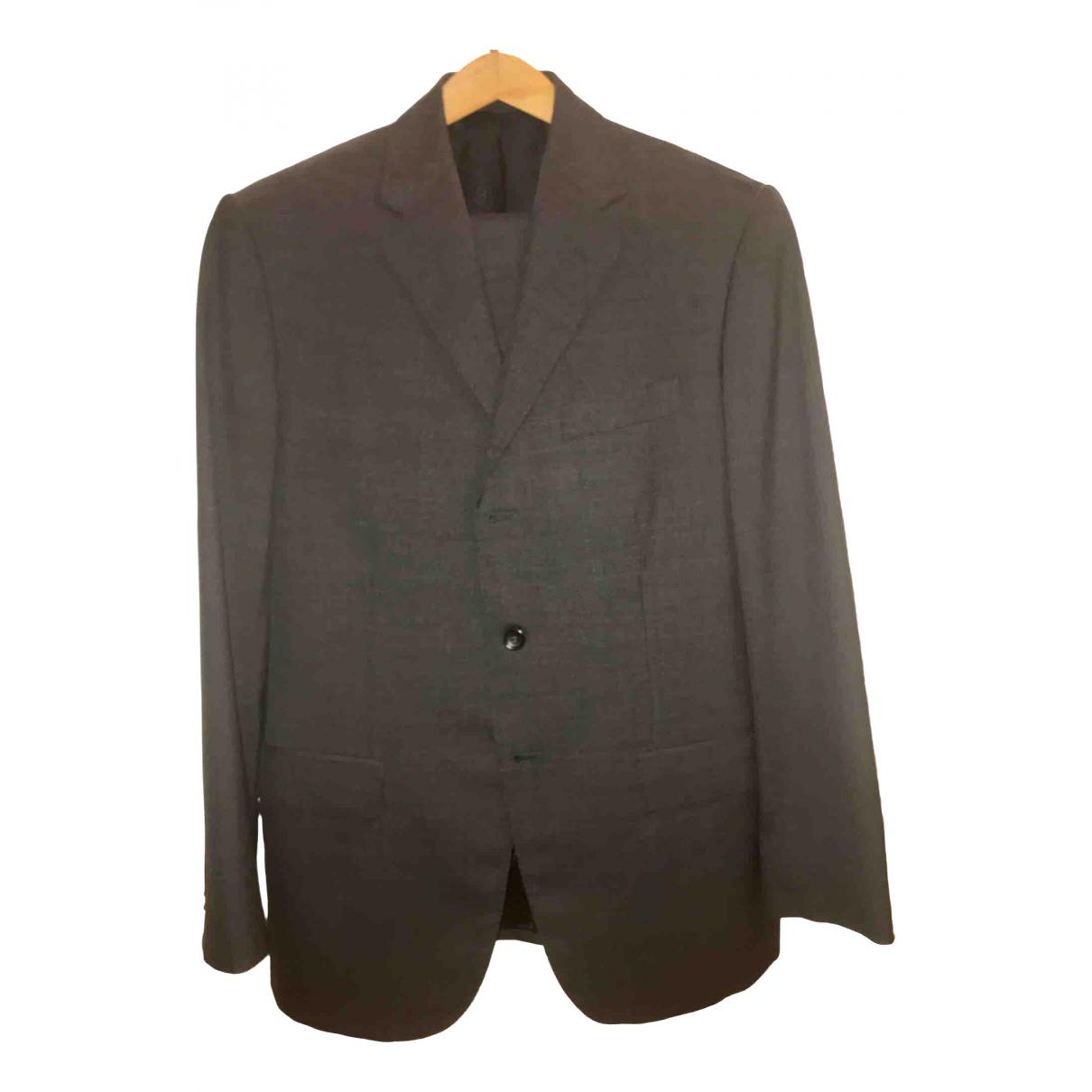 Boggi \N Grey Wool Suits for Men 50 IT