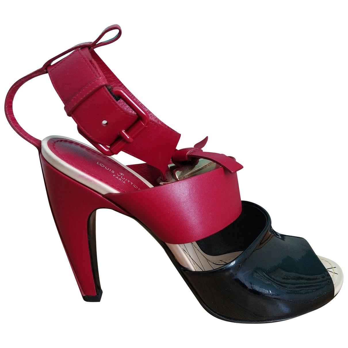 Louis Vuitton - Sandales   pour femme en cuir - rouge