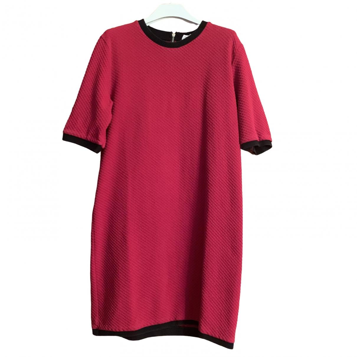 Zara \N Kleid in  Rot Synthetik