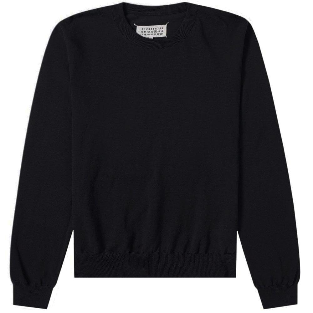 Maison Margiela Elbow Plain Knitted Jumper  Colour: BLACK, Size: MEDIUM