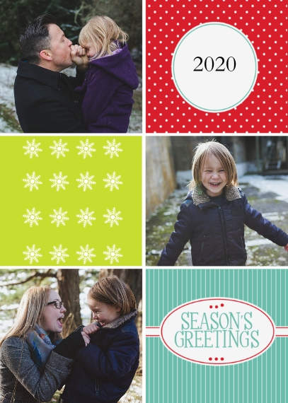 Holiday Photo Cards Mail-for-Me Premium 5x7 Folded Card , Card & Stationery -Cheerful Greetings