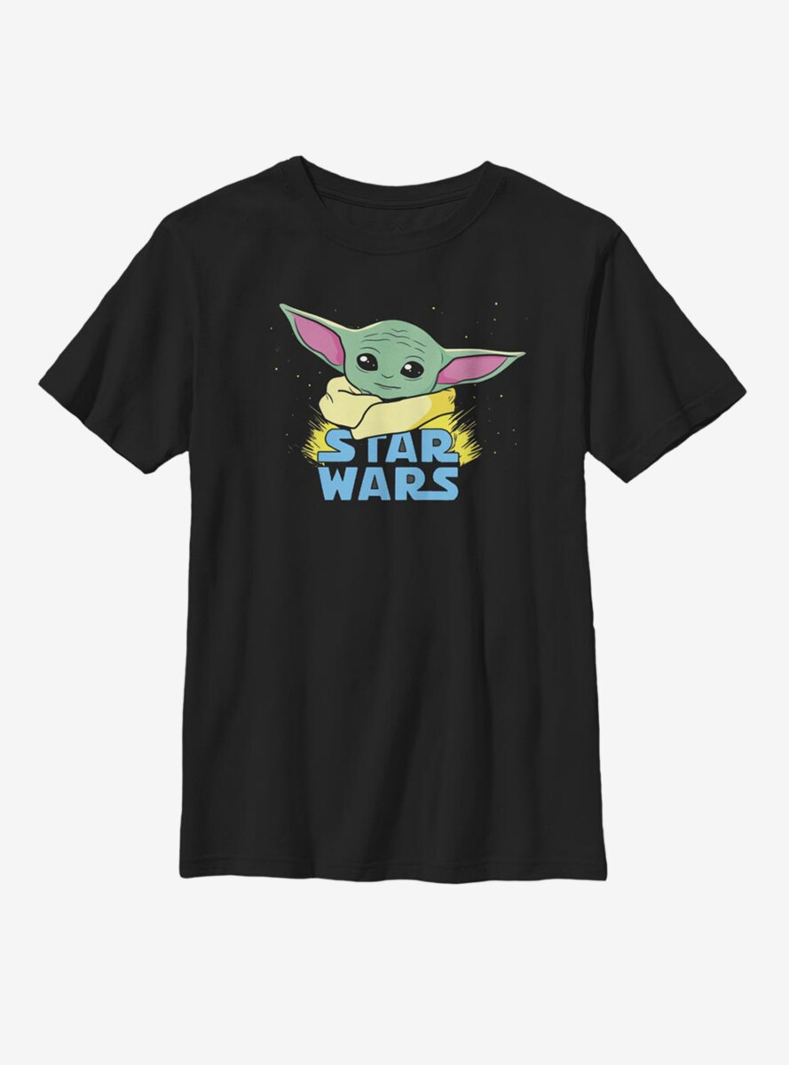 Star Wars The Mandalorian The Child Profile Logo Youth T-Shirt