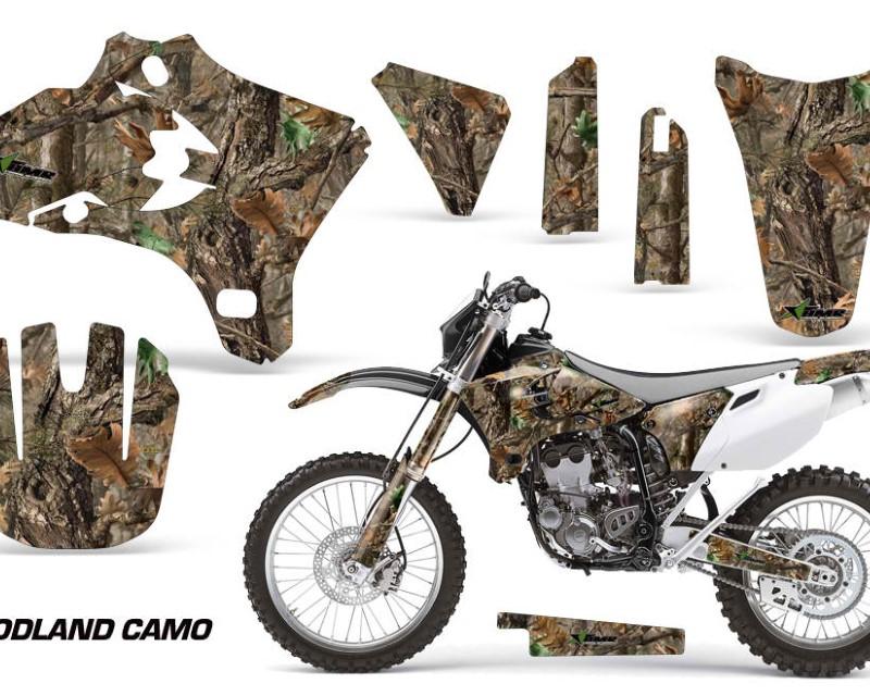 AMR Racing Dirt Bike Graphics Kit Decal Wrap For Yamaha YZ250F YZ450F 2003-2005áWOODLAND CAMO