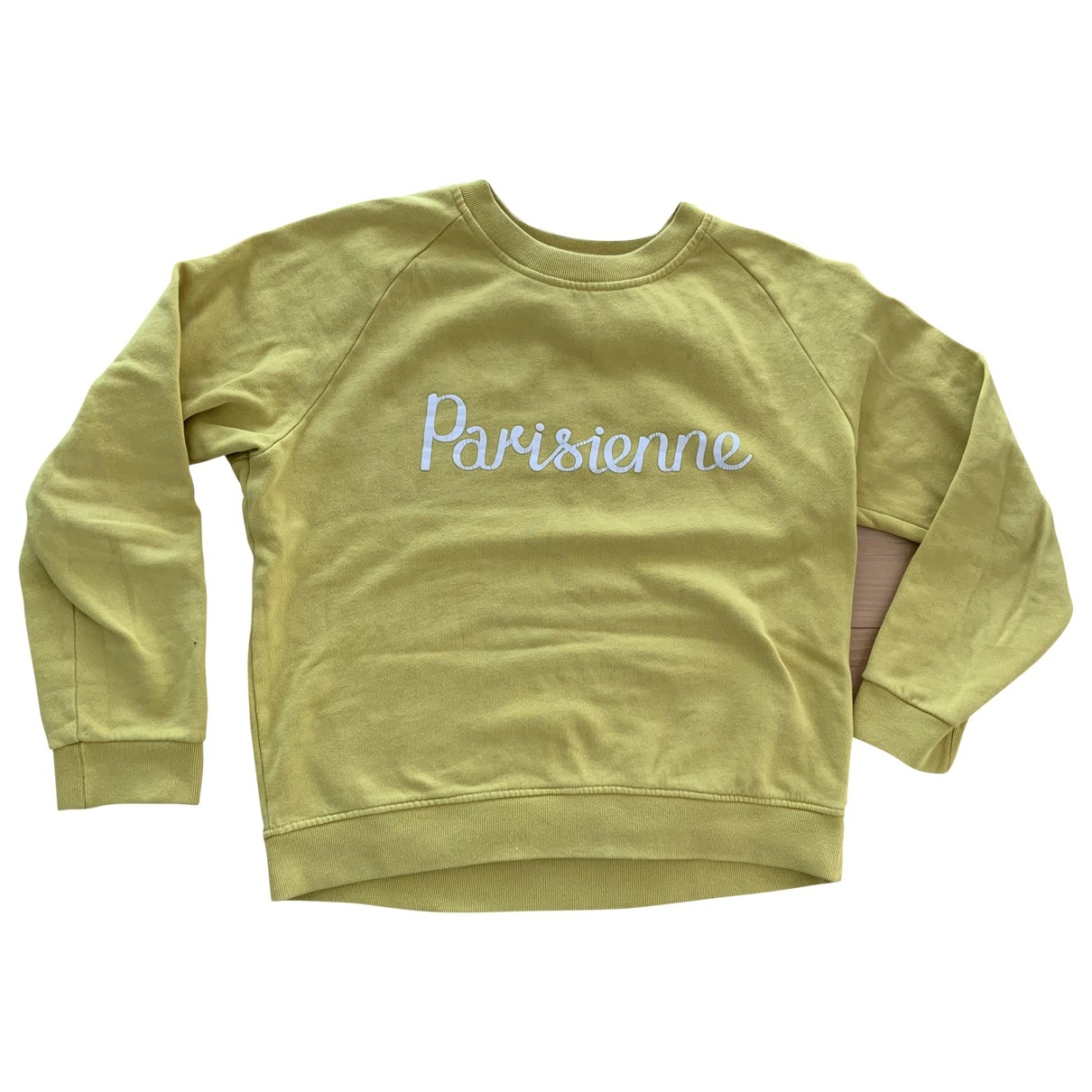 Maison Kitsune \N Yellow Cotton Knitwear for Women L International
